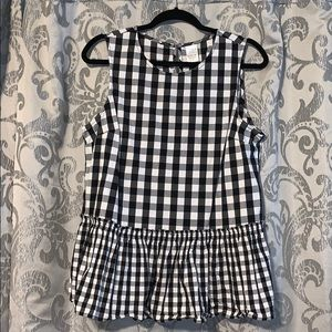 Buffalo check peplum top